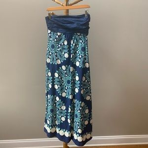 Anthropologie maxi dress with pockets